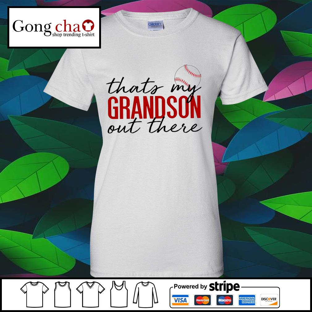 Baseball that's my Grandson out there s v-neck-t-shirt