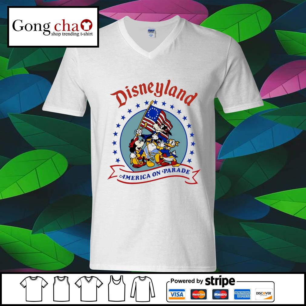 Disneyland America on parade s ladies-tee