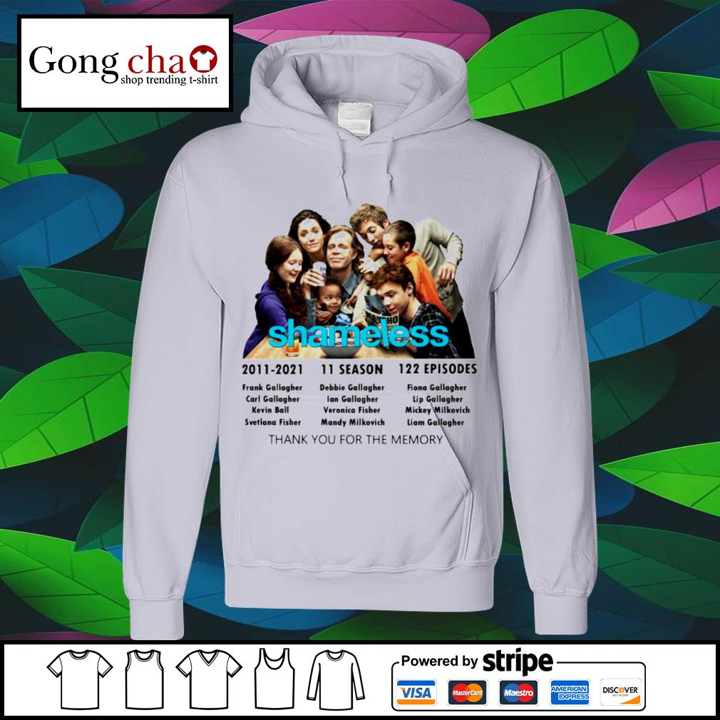 Shameless 2011 2021 11 season 122 episodes thank you for the memories s hoodie