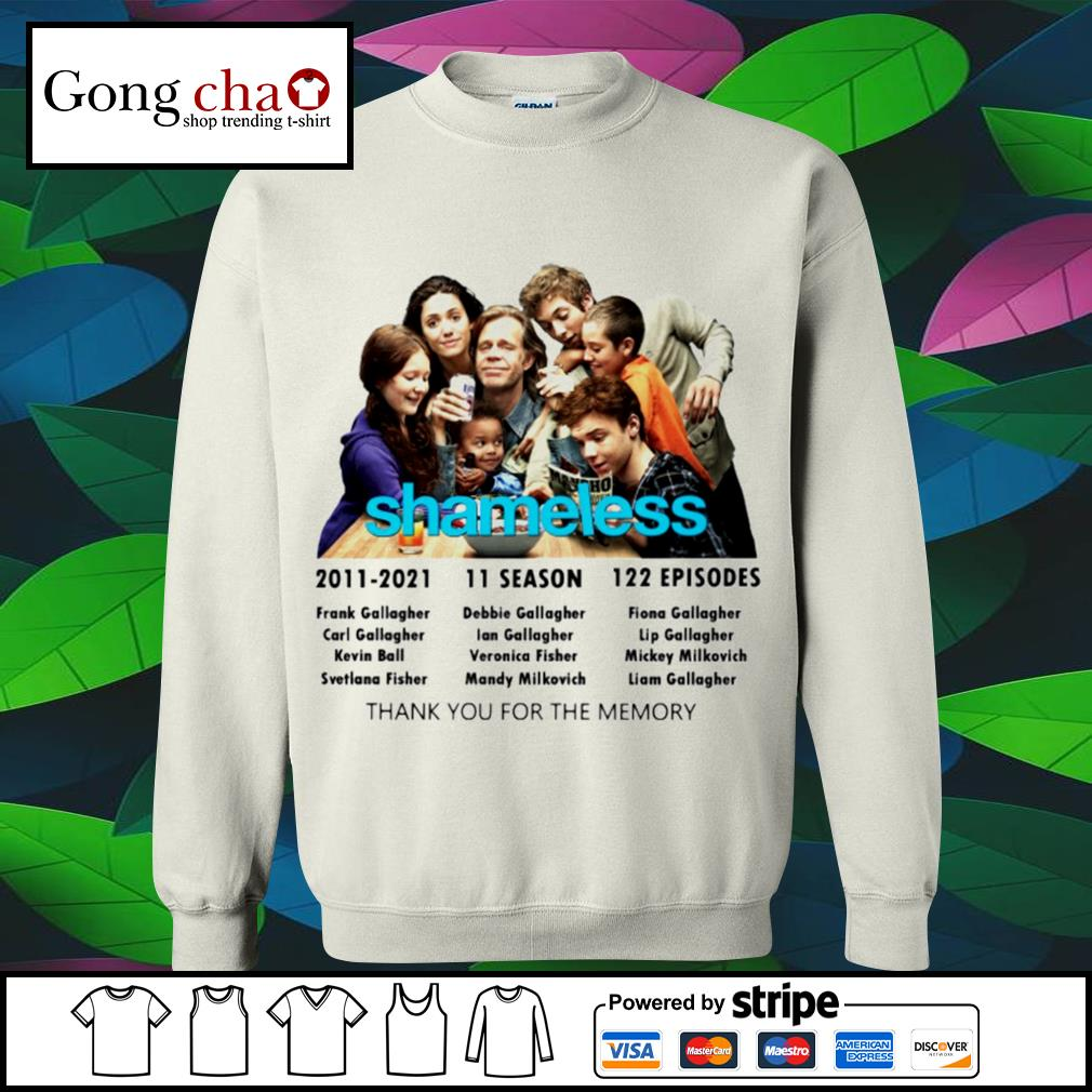 Shameless 2011 2021 11 season 122 episodes thank you for the memories s sweater