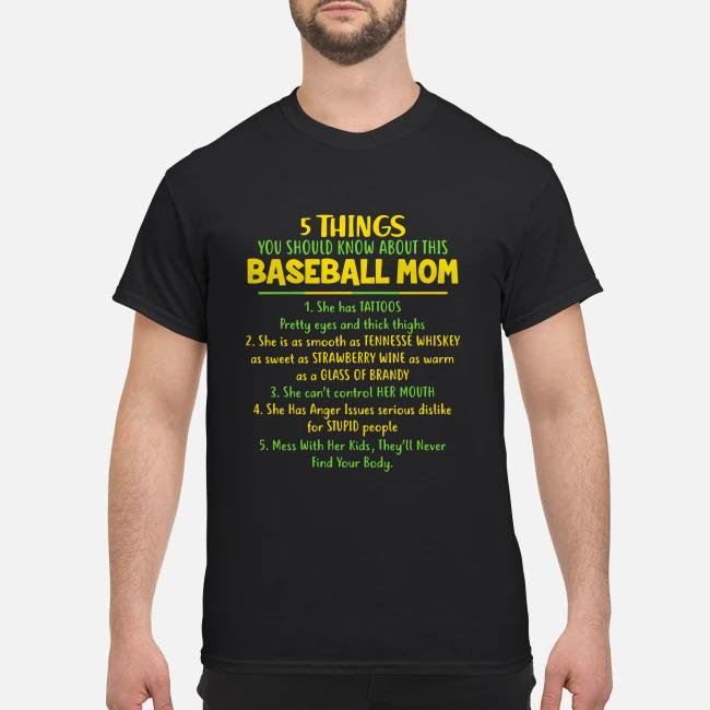5 things You should know about this baseball Mom shirt