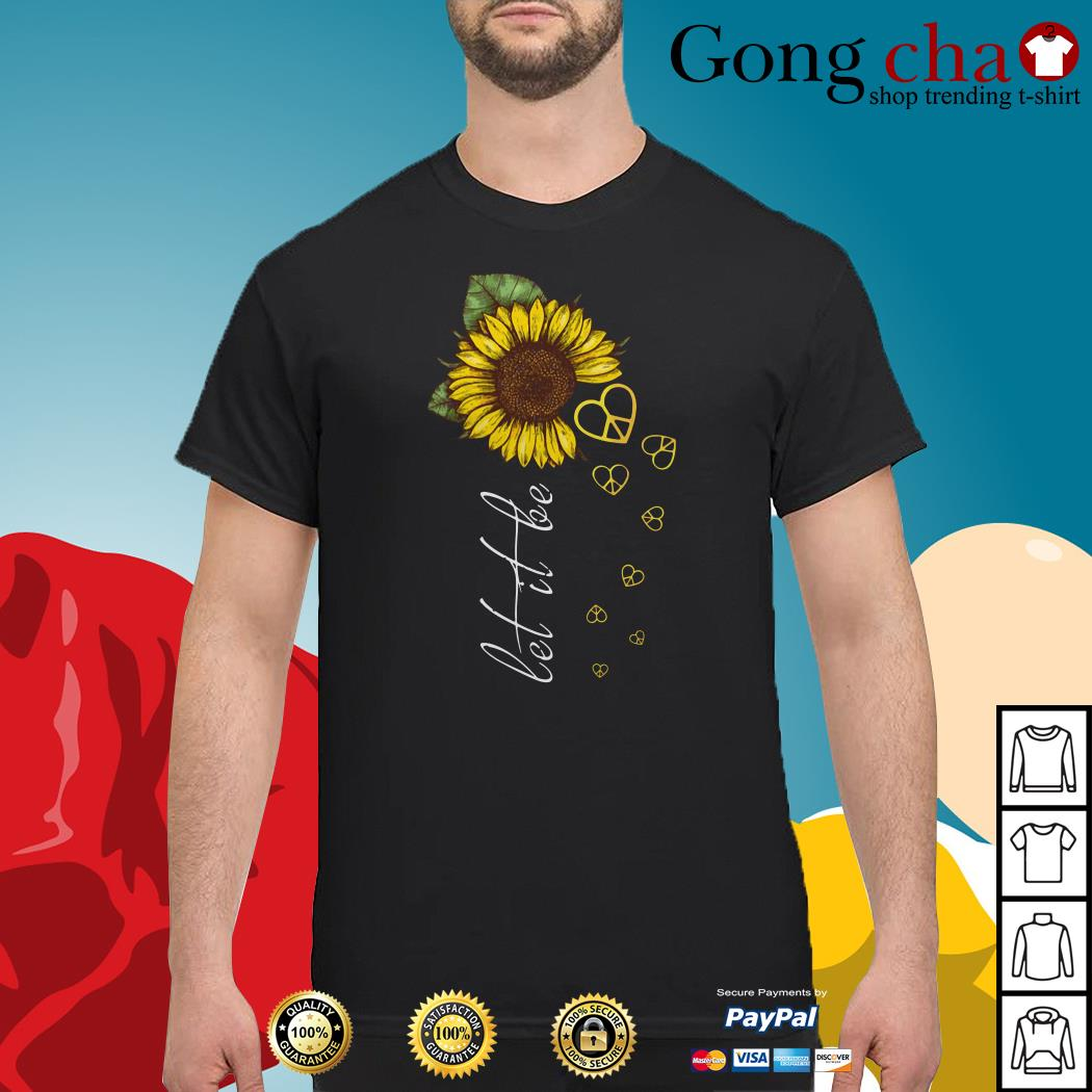The Beatles sunflower let it be peace sign shirt