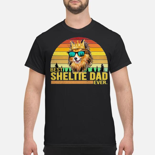 Best Sheltie dad ever vintage shirt
