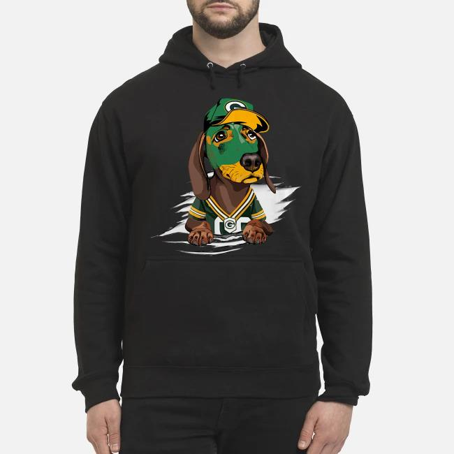 Dachshund the green bay Packers Hoodie