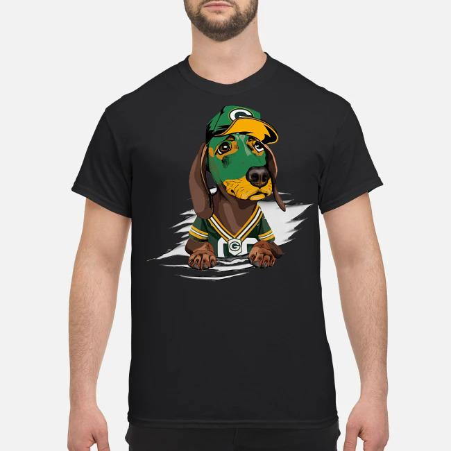Dachshund the green bay Packers shirt