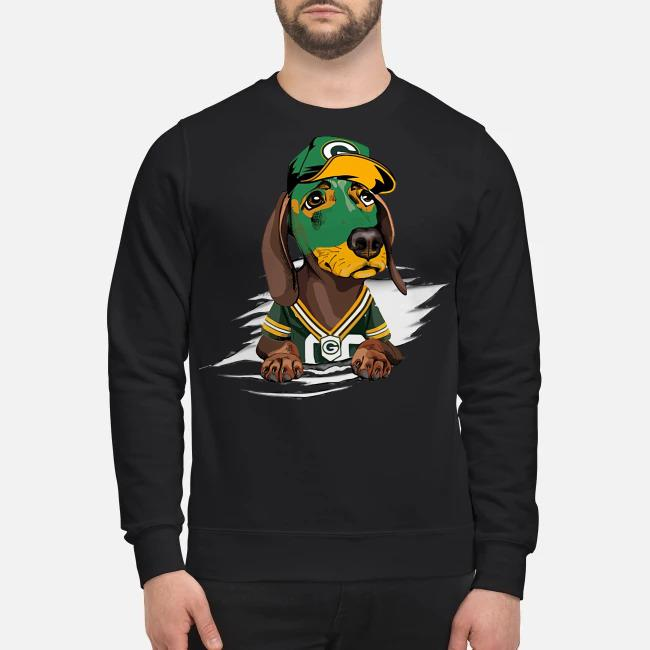 Dachshund the green bay Packers Sweater