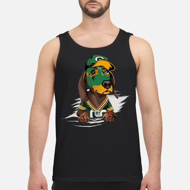 Dachshund the green bay Packers Tank top