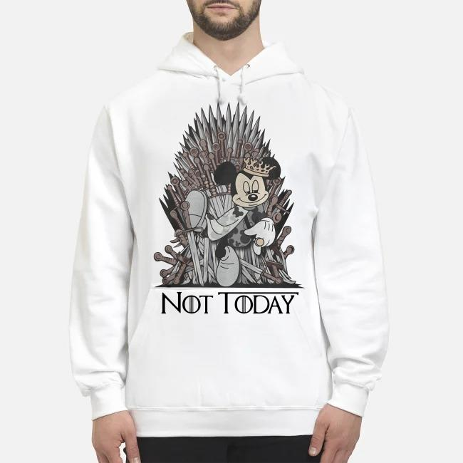 Disney and Game of Throne Mickey Mouse Arya not today Hoodie