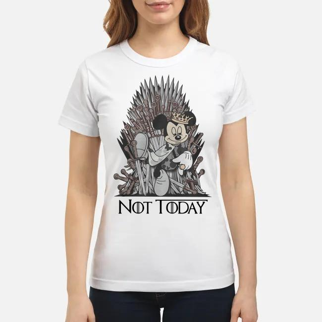 Disney and Game of Throne Mickey Mouse Arya not today Ladies tee