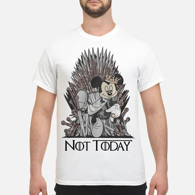 Disney and Game of Throne Mickey Mouse Arya not today shirt