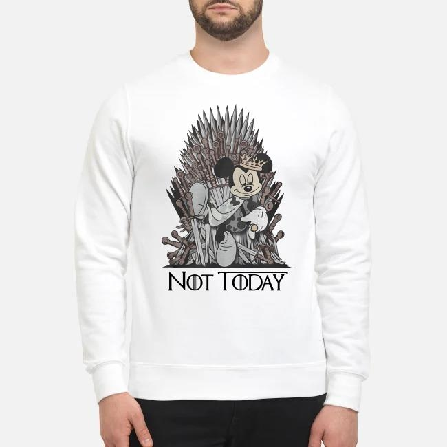 Disney and Game of Throne Mickey Mouse Arya not today Sweater
