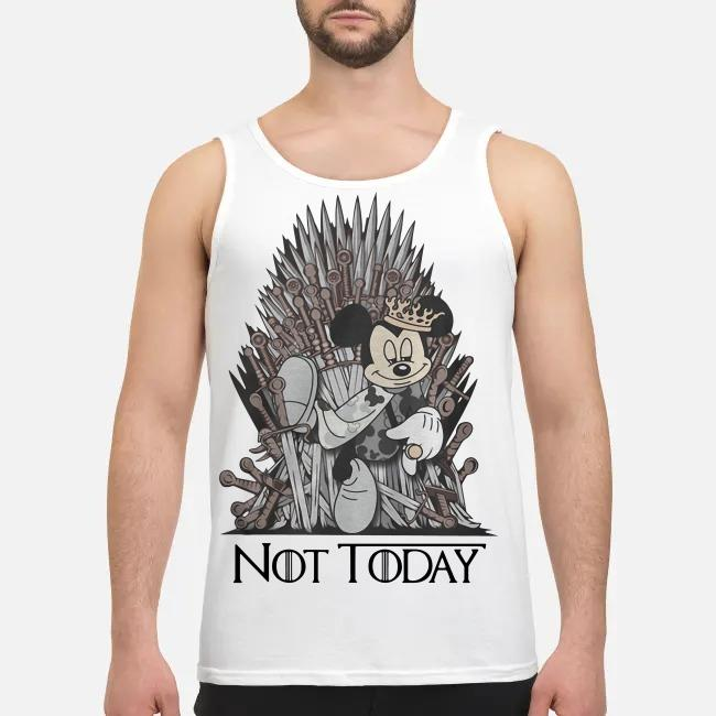 Disney and Game of Throne Mickey Mouse Arya not today Tank top