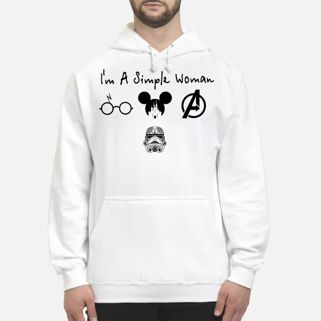 I'm a simple woman I like Harry Potter Disney and Avengers and Star Wars Trooper Hoodie
