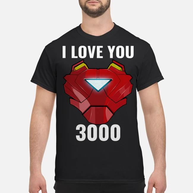 Iron man Tony Stark I love You 3000 endgame shirt