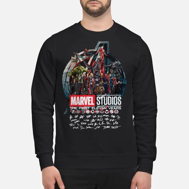 Marvel studios the first eleven years all characters signature Avengers Sweater