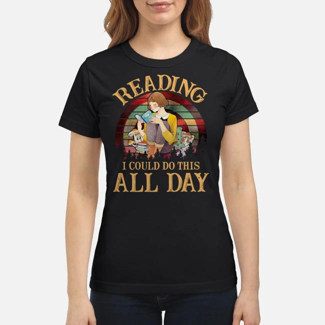 Reading I could do this all day vintage Ladies tee