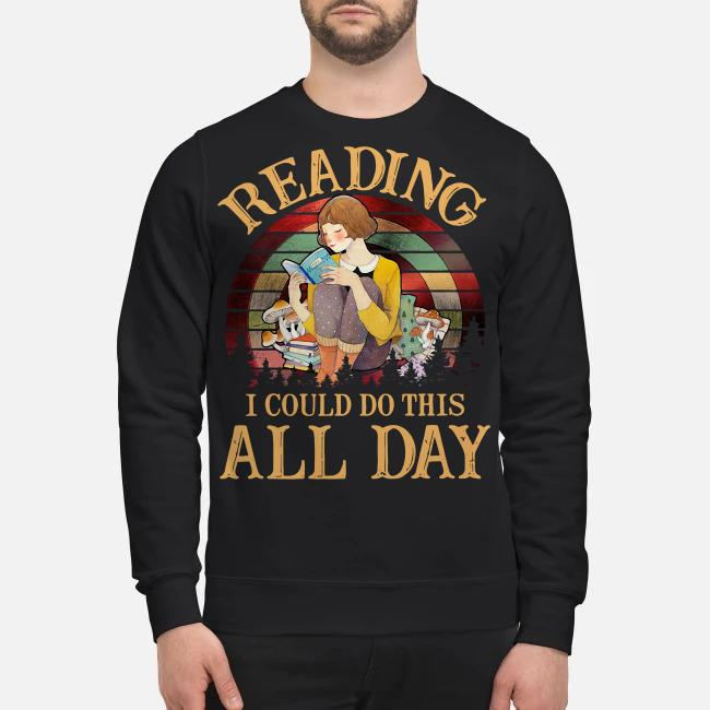 Reading I could do this all day vintage Sweater