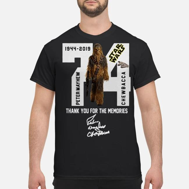 Star Wars Peter Mayhew Chewbacca 1944 2019 Thank you for the memories shirt