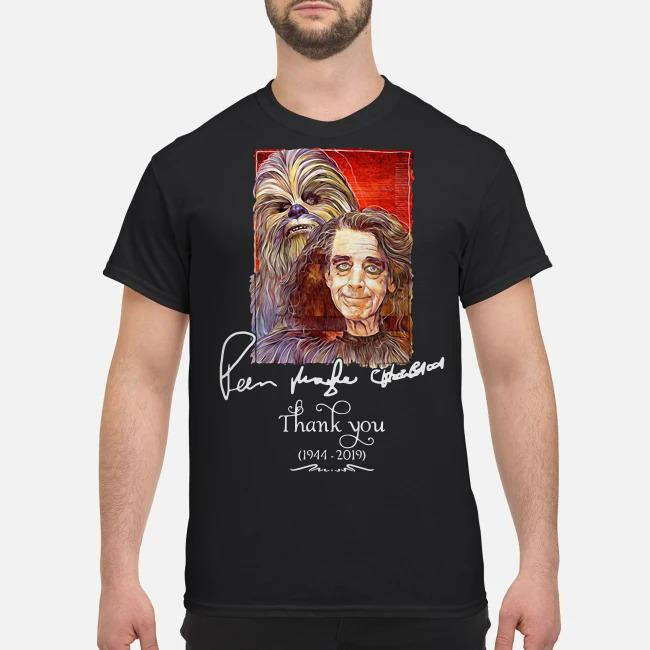 Star Wars signature Peter Mayhew Chewbacca 1944 2019 Thank you shirt