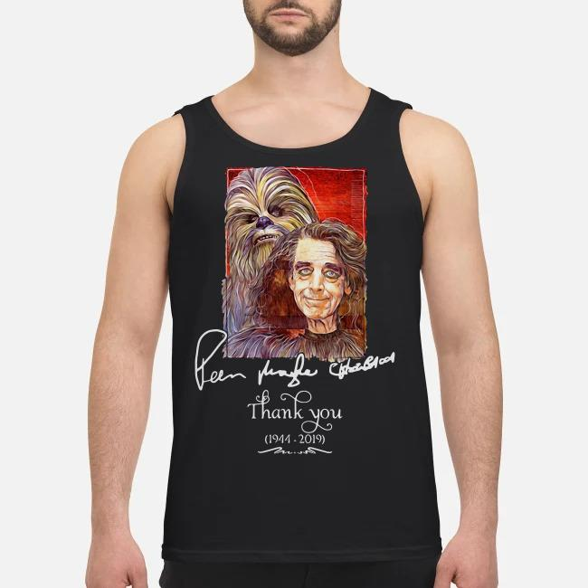 Star Wars signature Peter Mayhew Chewbacca 1944 2019 Thank you Tank top