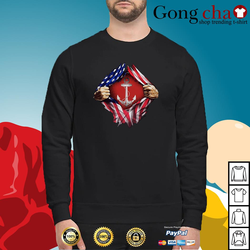 Anchor blood inside me 4th of July independence day Sweater