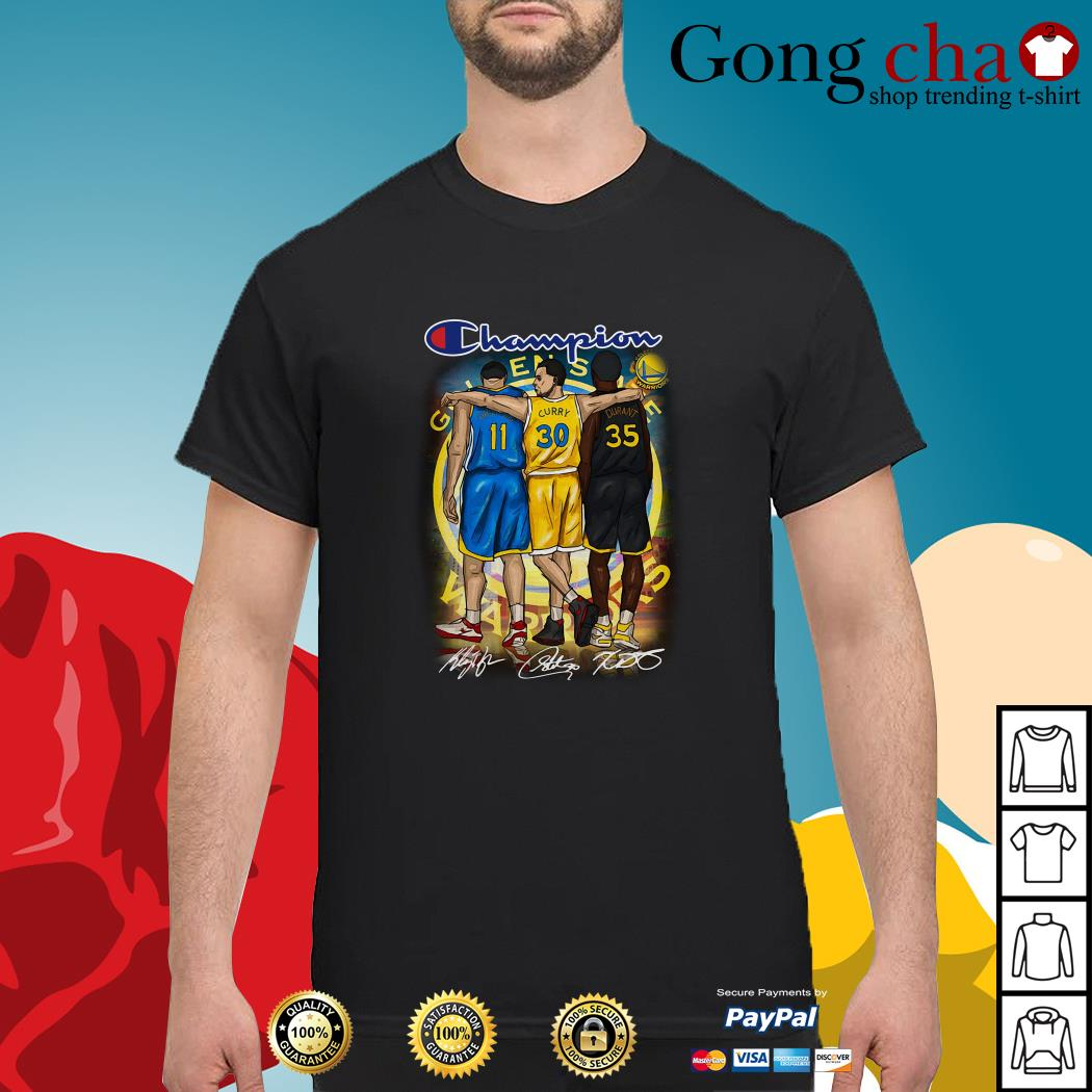 new style 29de9 c49dd Champion Golden State Warriors Stephen Curry Klay Thompson Kevin Durant  shirt