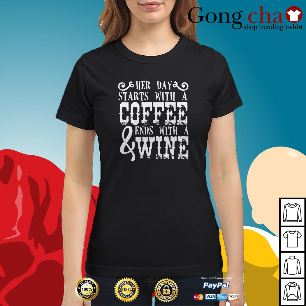 Her day starts with a coffee ends with a wine Tank top