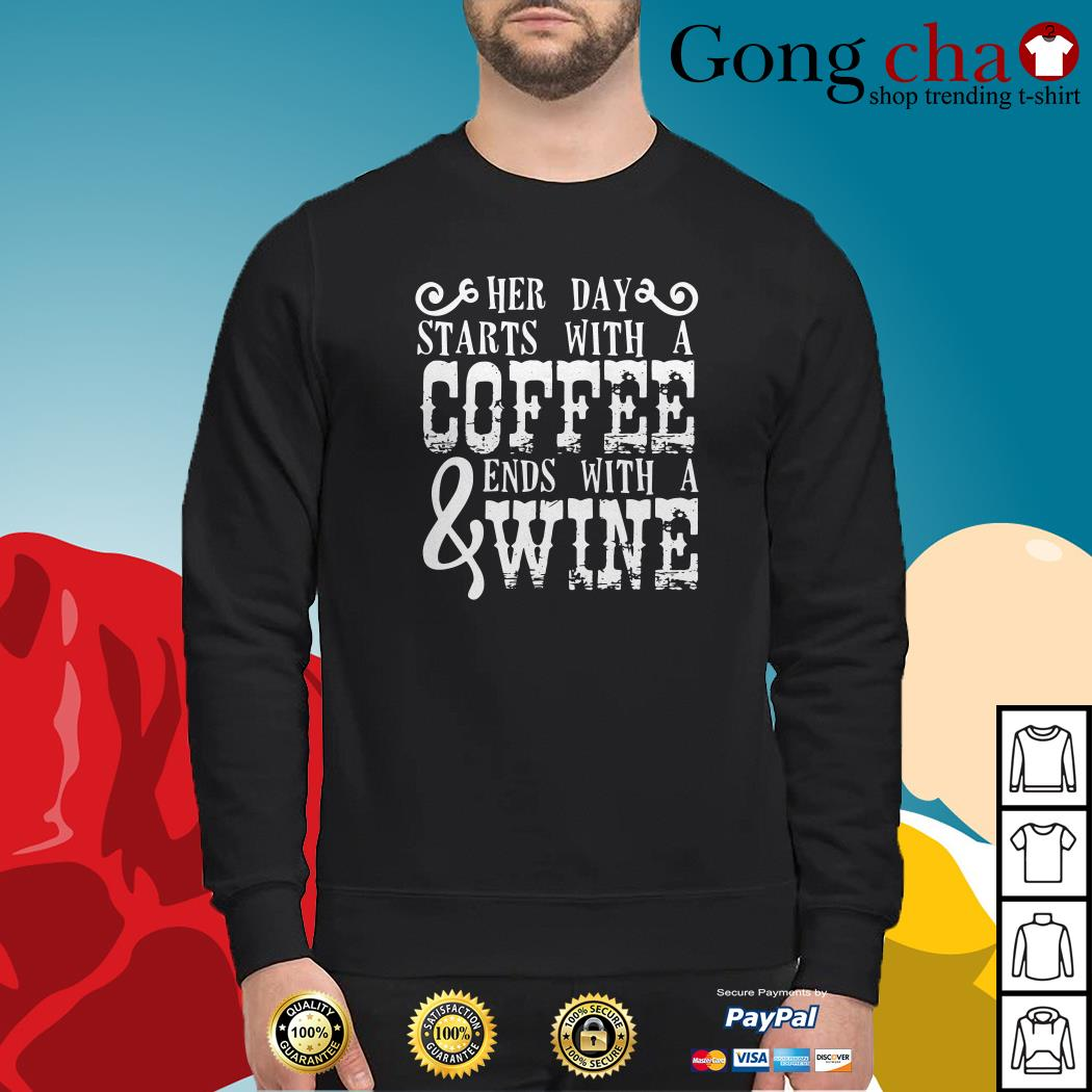 Her day starts with a coffee ends with a wine Sweater
