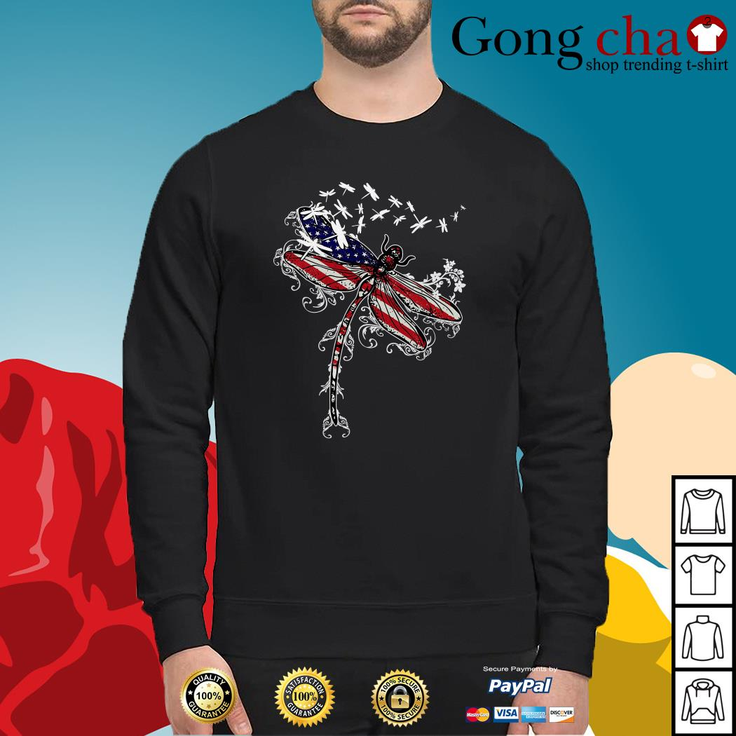 Dragonfly 4th of July independence day Sweater