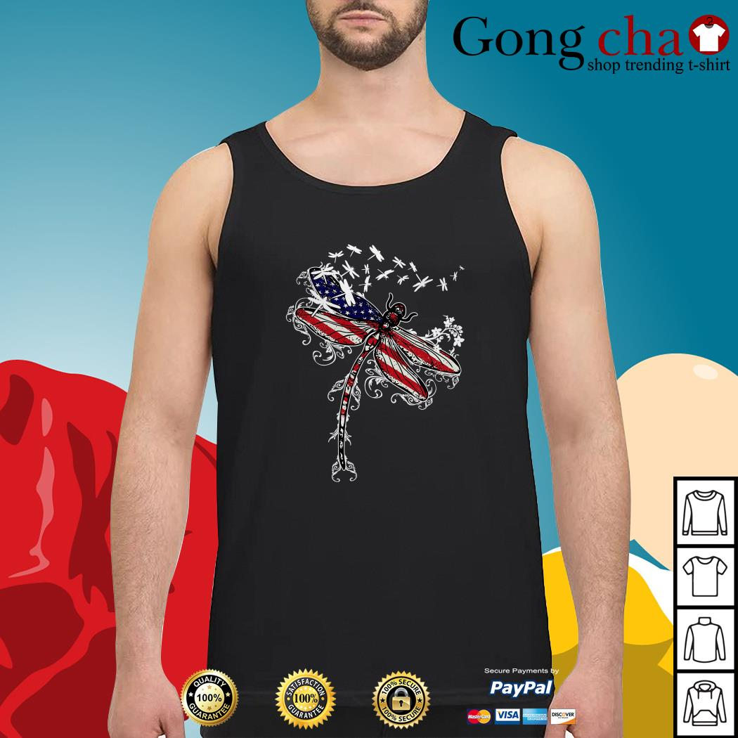 Dragonfly 4th of July independence day Tank top