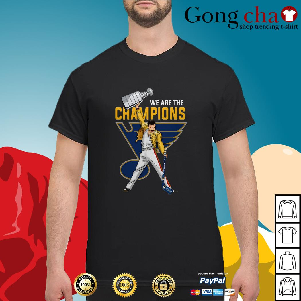 Freddie Mercury St. Louis Blues we are champions shirt