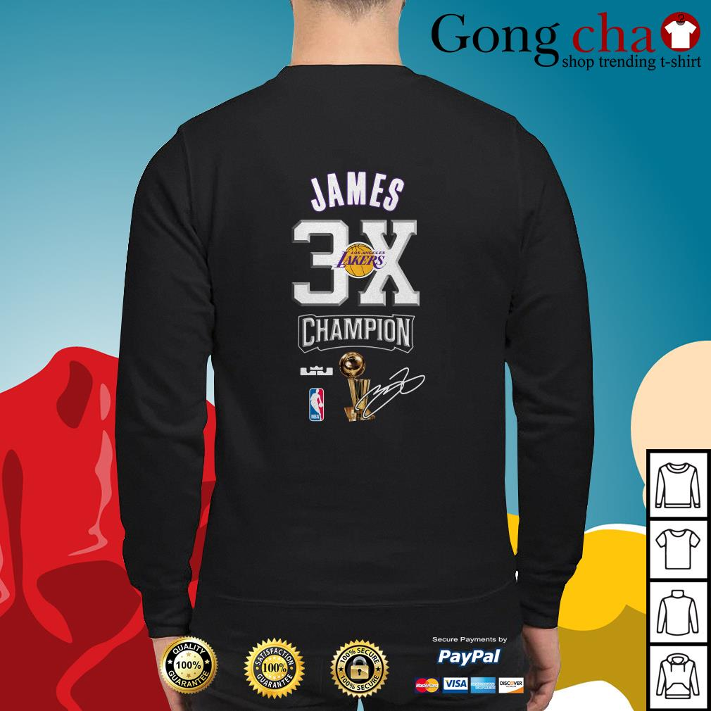 low priced 244a9 7cfd6 Lebron James NBA Los Angeles Lakers 23 Champion 3X shirt