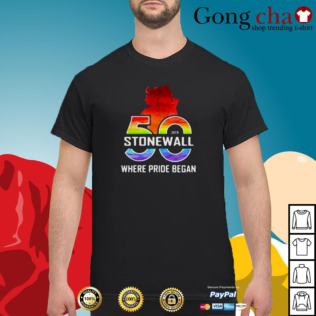 LGBTQ The Stonewall 50th where pride began Shirt