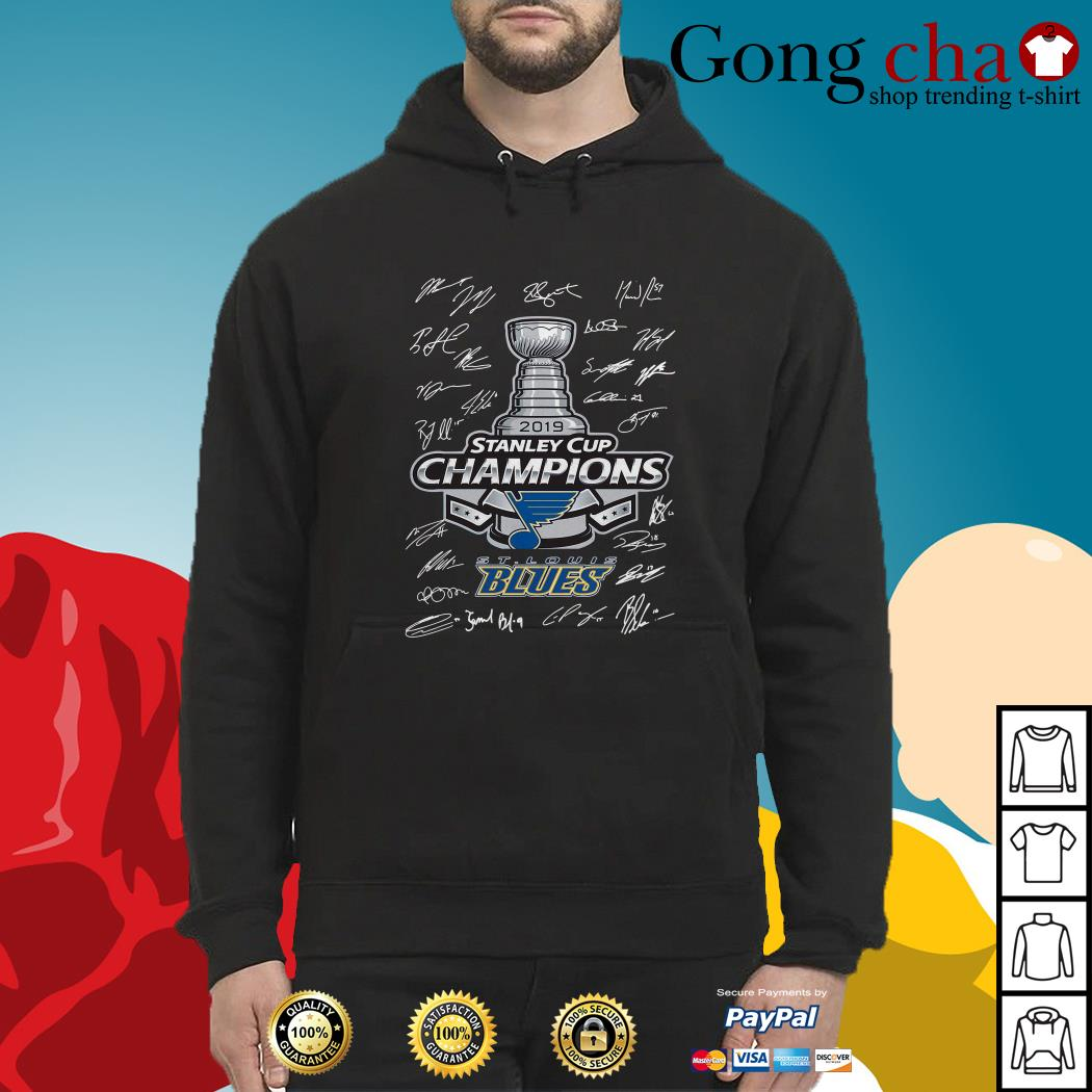 St Louis Blues 2019 Stanley Cup Champions signature Hoodie