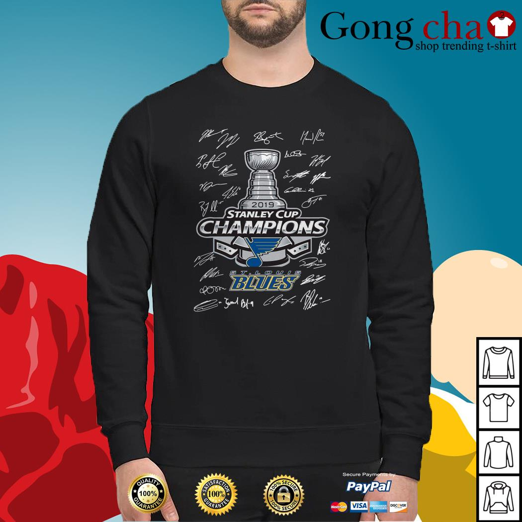 St Louis Blues 2019 Stanley Cup Champions signature Sweater