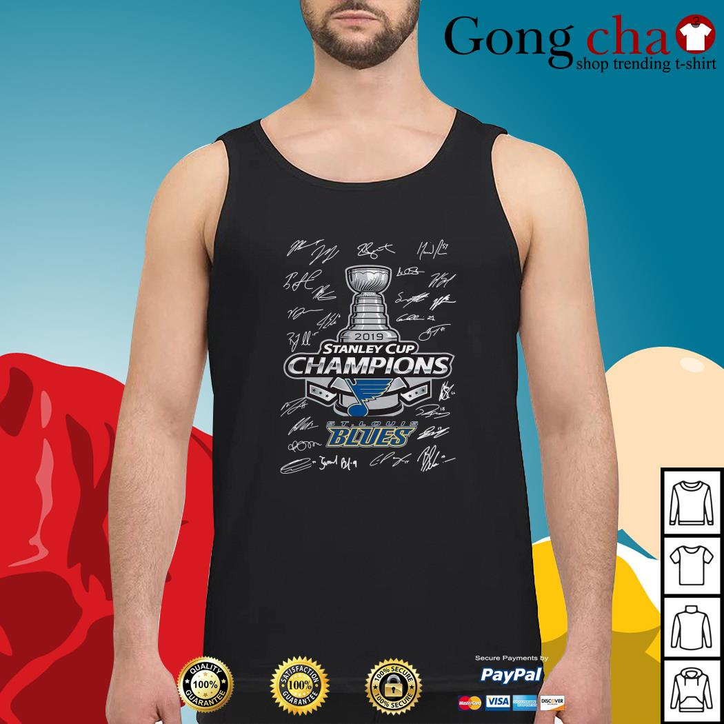 St Louis Blues 2019 Stanley Cup Champions signature Tank top