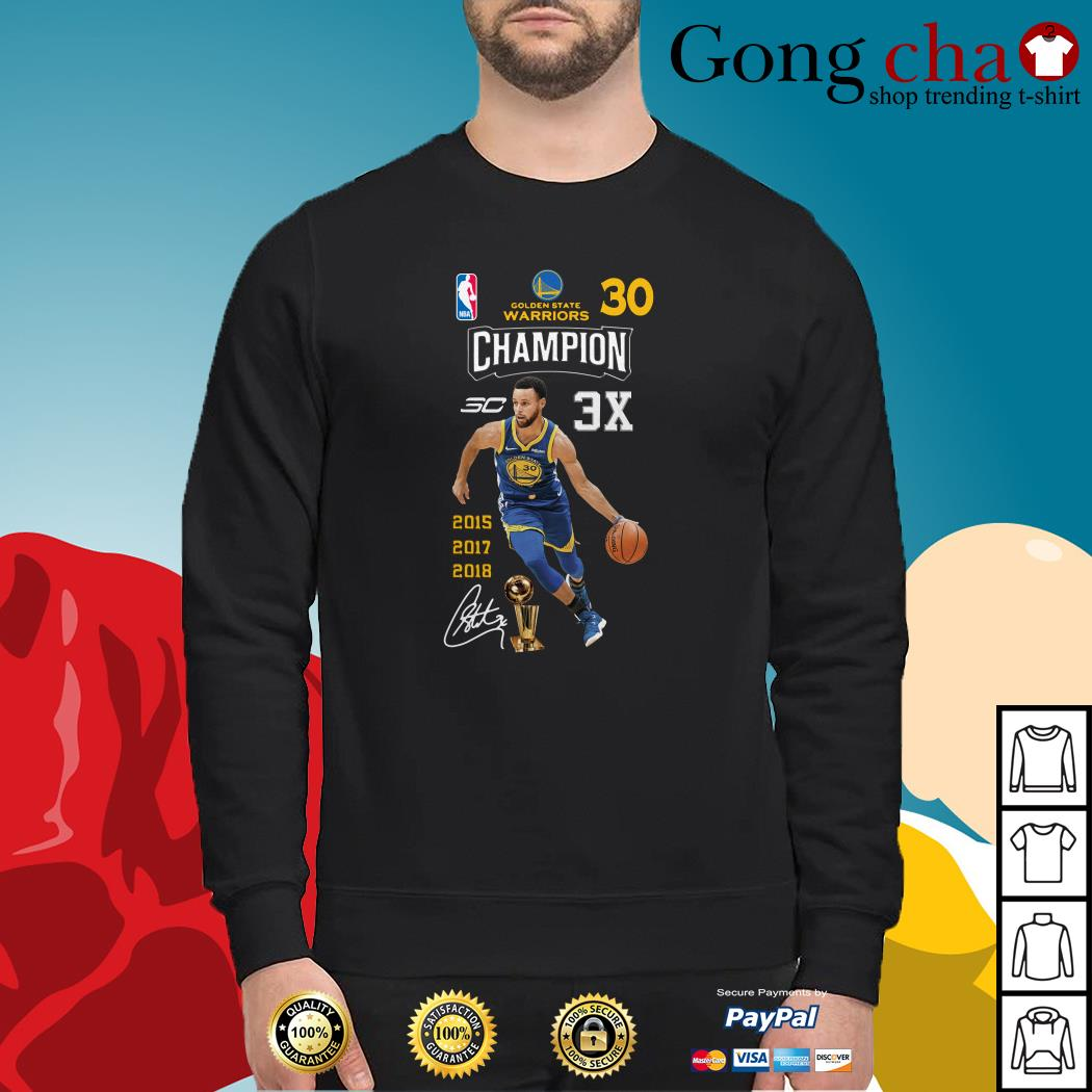 separation shoes 350c3 105c6 Stephen Curry NBA Golden State Warriors 30 Champion 3X shirt