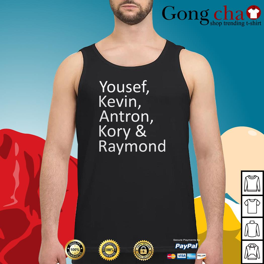 Yousef Kevin Antron Kory and Raymond Tank top