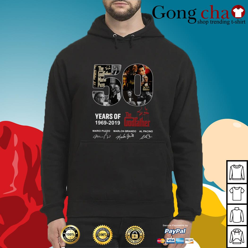 50 Years of The Godfather 1969-2019 signatures Hoodie