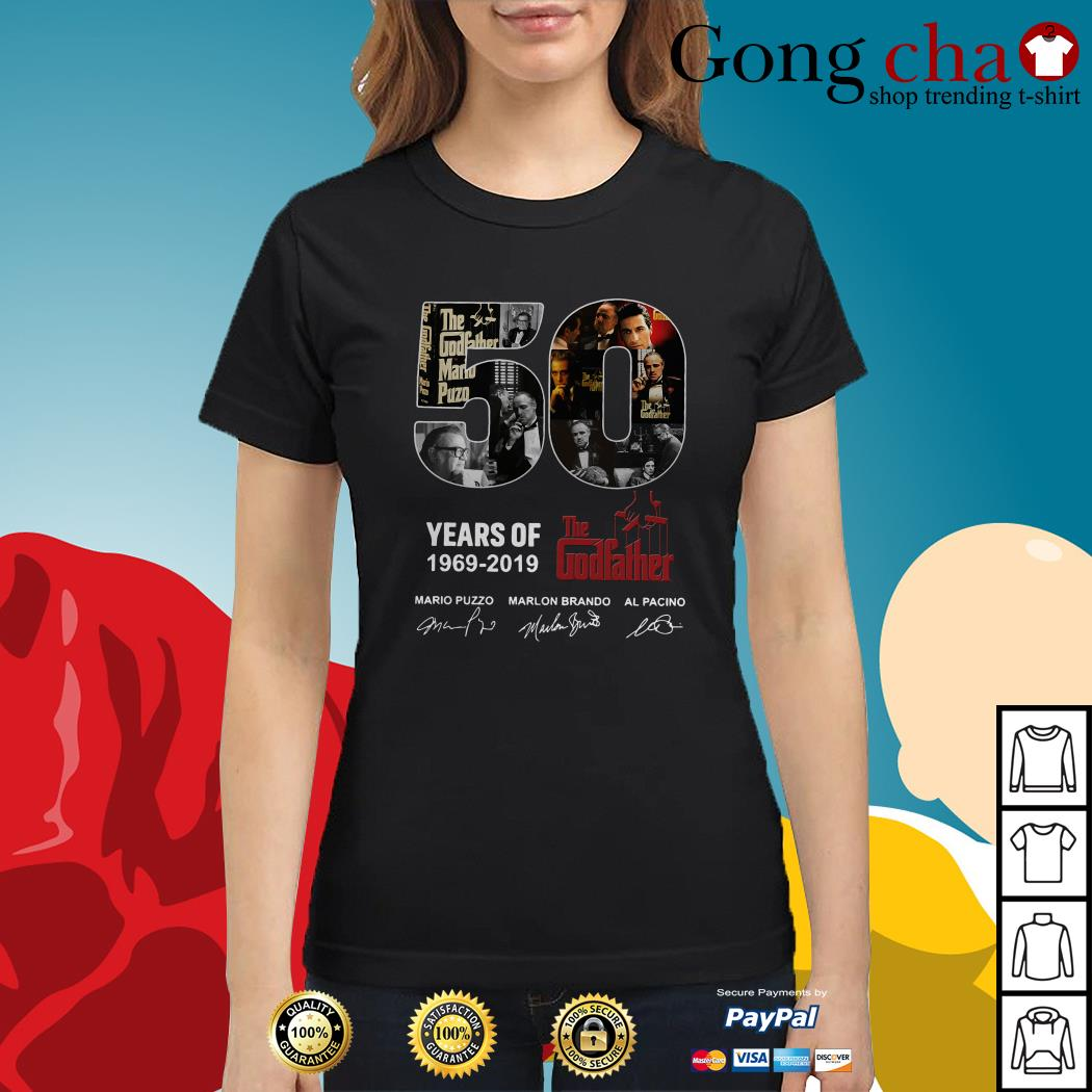 50 Years of The Godfather 1969-2019 signatures Ladies tee