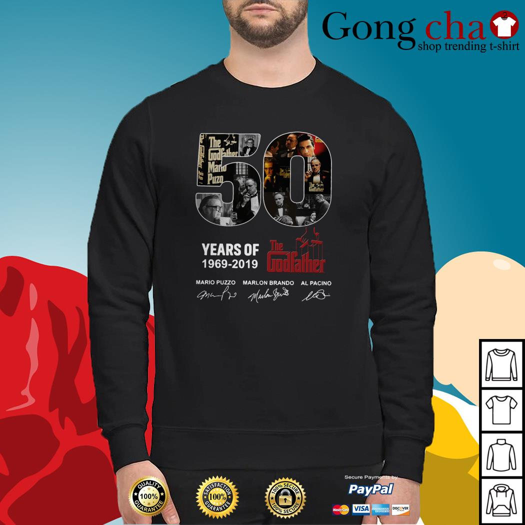 50 Years of The Godfather 1969-2019 signatures Sweater