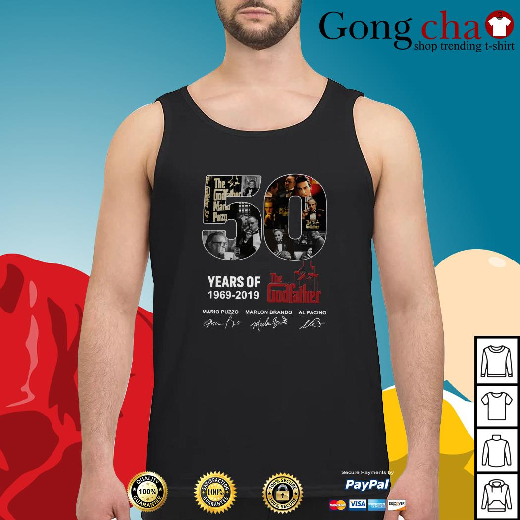 50 Years of The Godfather 1969-2019 signatures Tank top