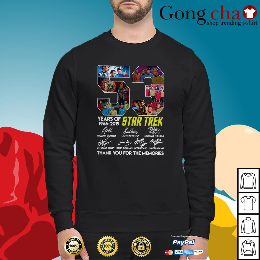 53 Years of Star Trek 1966-2019 thank you for the memories signatures Sweater