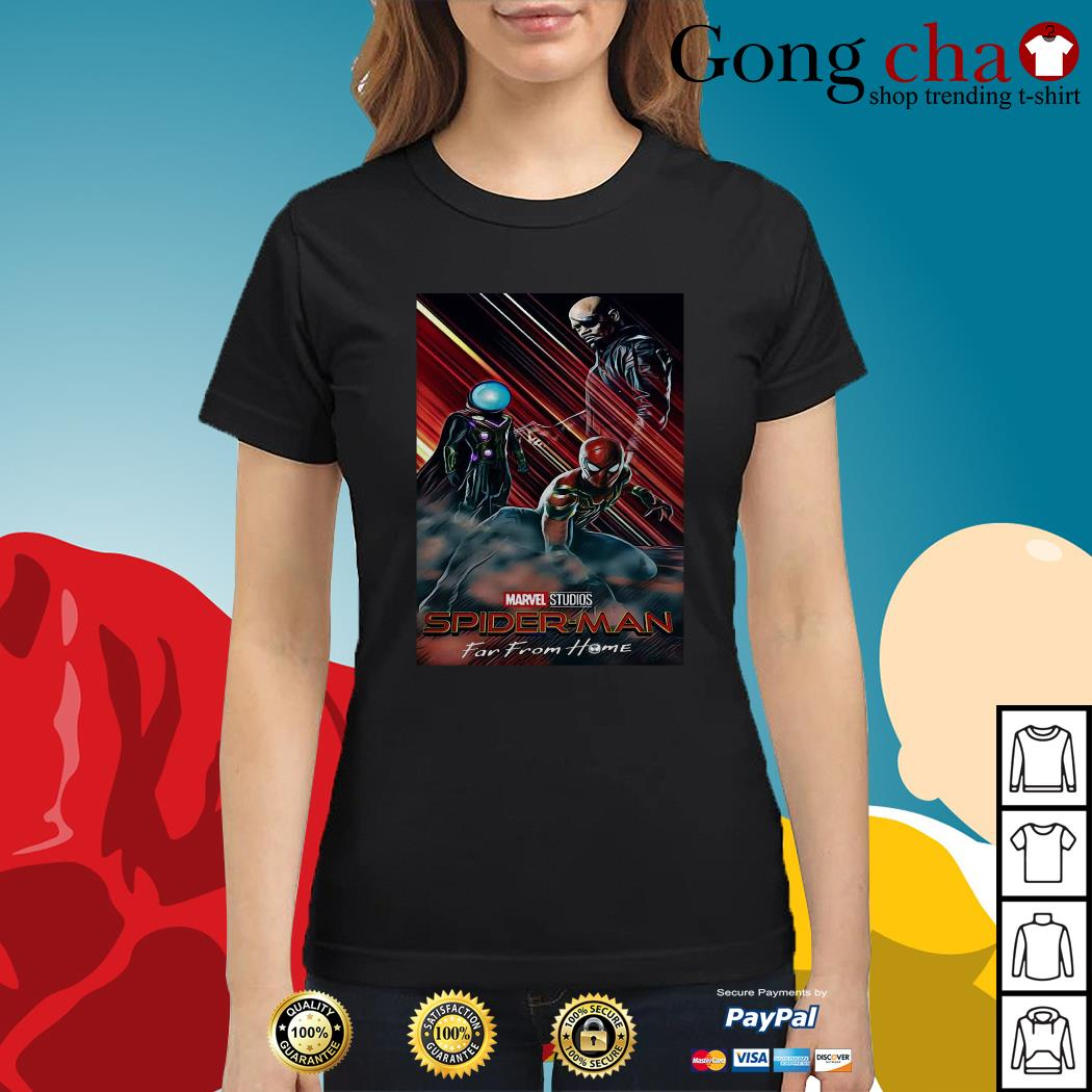 Marvel Studios Spider-Man far from home poster Ladies tee