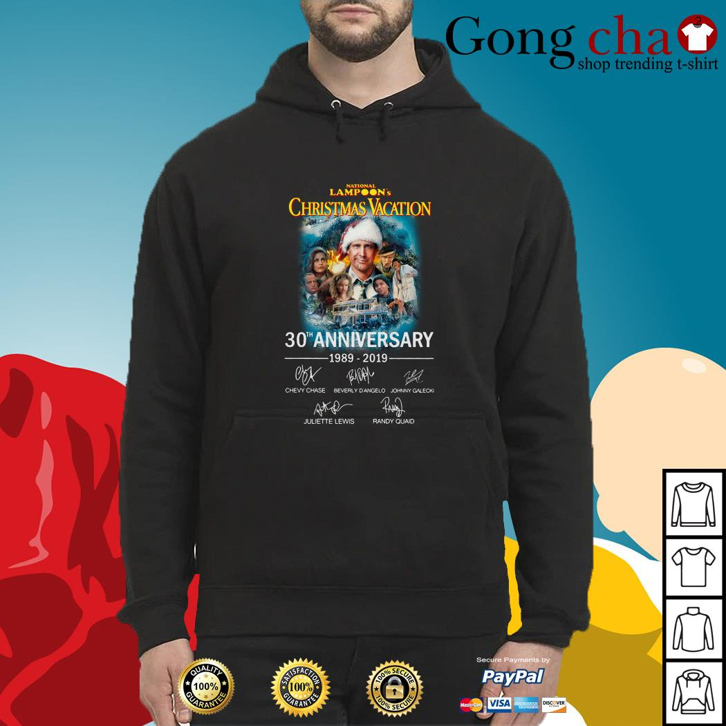 National Lampoon's Christmas vacation 30th Anniversary 1989-2019 signature Hoodie