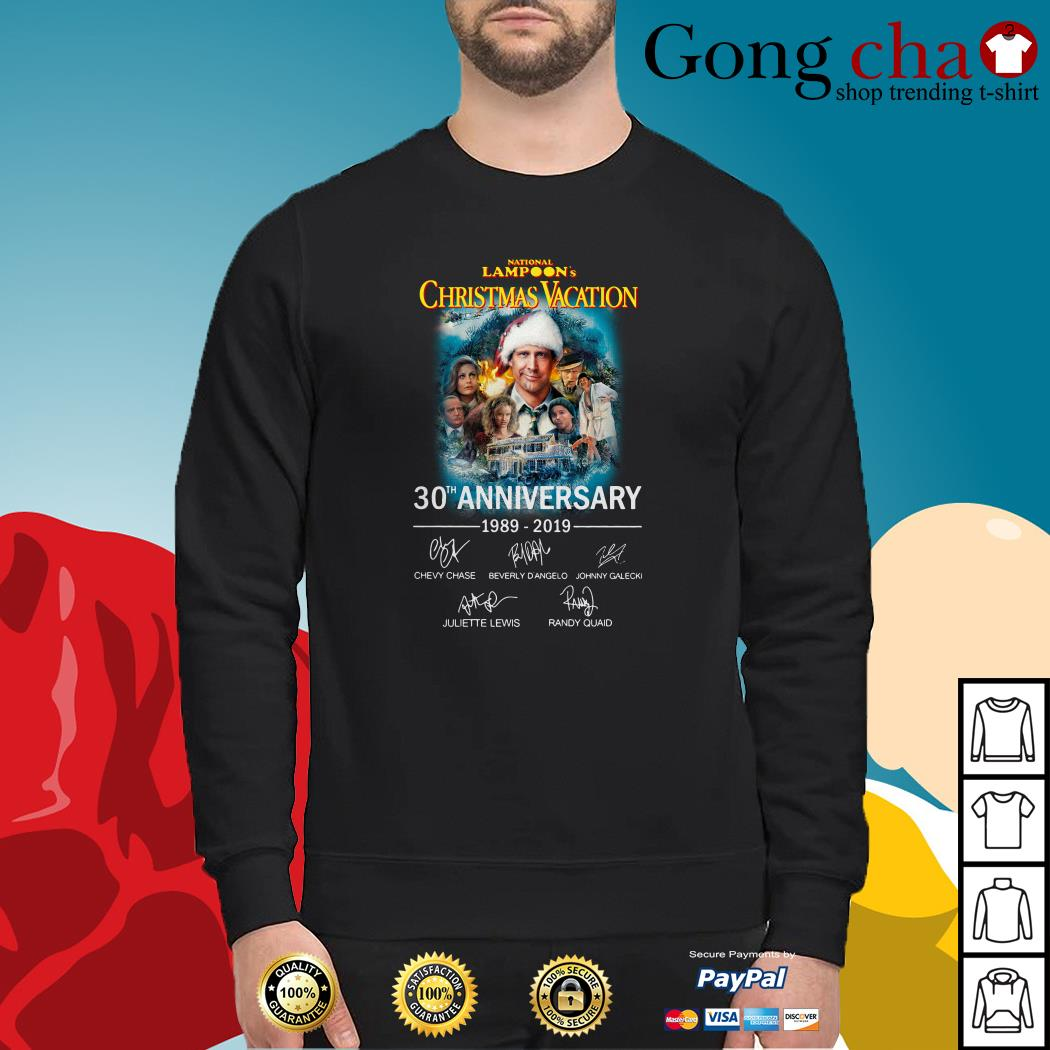 National Lampoon's Christmas vacation 30th Anniversary 1989-2019 signature Sweater