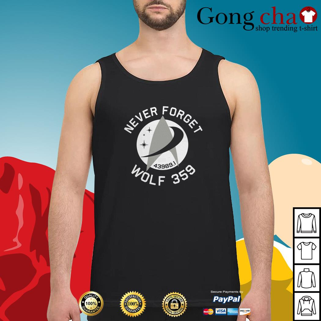 Never forget 43989 Wolf 359 Tank top