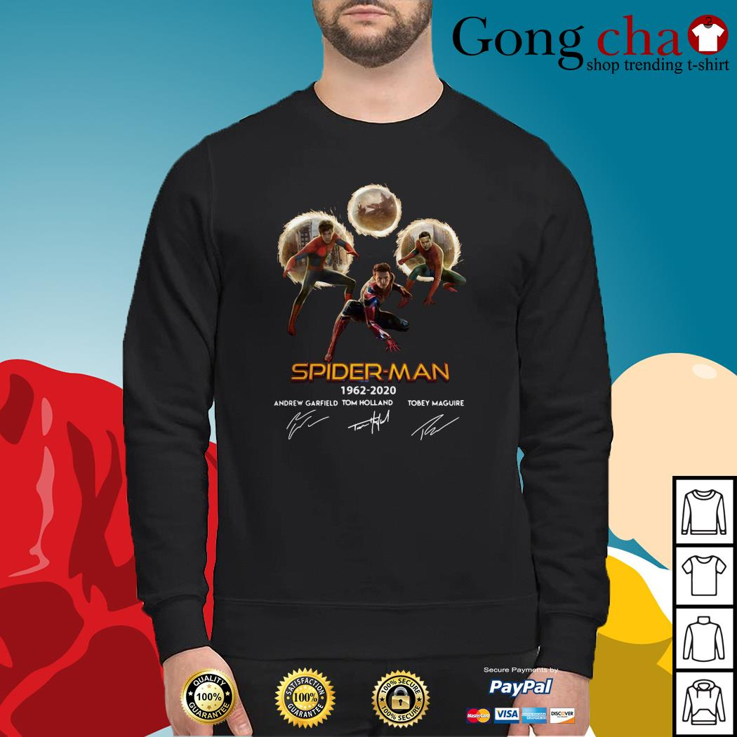 Spider-Man 1962-2020 Andrew Garfield Tom Holland Tobey Maguire signature Sweater