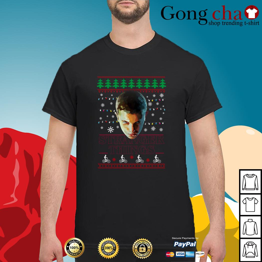 Stranger Things Eleven Christmas Lights Knit ugly shirt