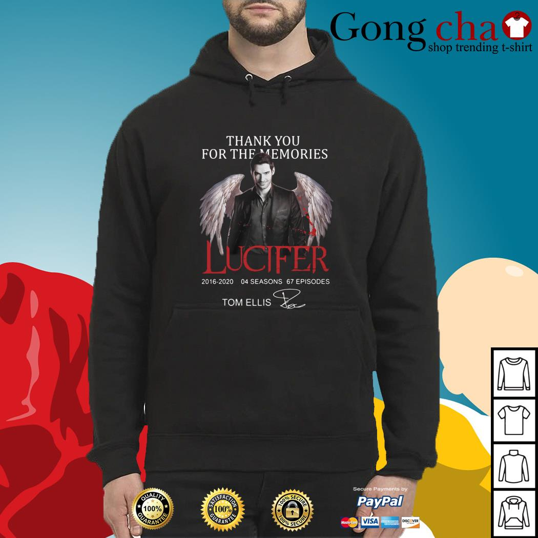 Thank you for the memories Lucifer 2016-2020 04 seasons 67 episodes signature Hoodie